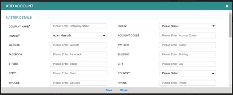 Step 1 - add an account in BuddyCRM