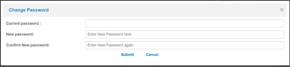 change password options in BuddyCRM