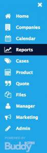select reports menu item in BuddyCRM