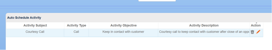 see scheduled activities in BuddyCRM